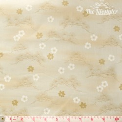 Kona Bay Fabrics - Whispering branches, cream/beige branches and flowers