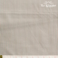 Westfalenstoffe - Rosenborg/Gent, tiny stripes taupe/white