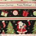 Wilmington Prints - Jolly Christmas, border stripes
