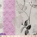 Wilmington Prints - Purple Haze, border stripes