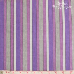 Wilmington Prints - Purple Haze, grey and purple stripes