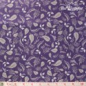 Wilmington Prints - Purple Haze, grey leaves on purple