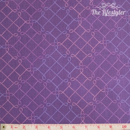 Wilmington Prints - Purple Haze, meander pattern on purple